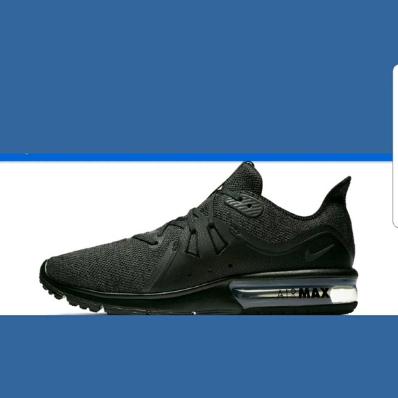 802f12e9c35 NEW NIKE AIR MAX SEQUENT 3 MENS BLACK SIZE 9